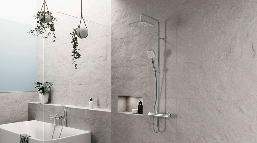 NEW Oras Nova Style with two design options for overhead shower,