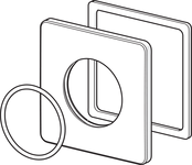 1001009V | Oras | Cover plate, 90x90 mm