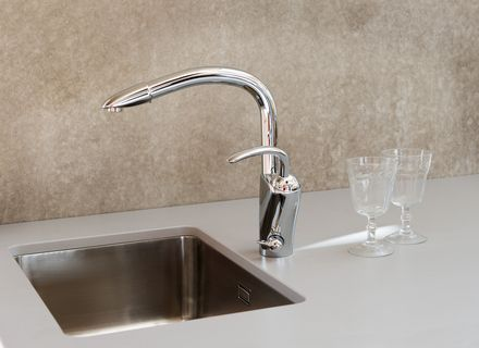 Oras Aventa, Kitchen faucet with dishwasher valve, 5932F
