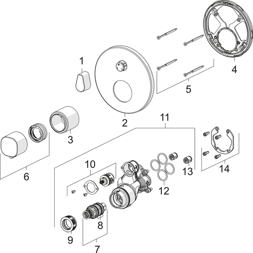 SP2087 Cover part for shower faucet