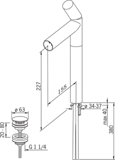 IL BAGNO ALESSI Dot by Oras, High washbasin faucet, 8601