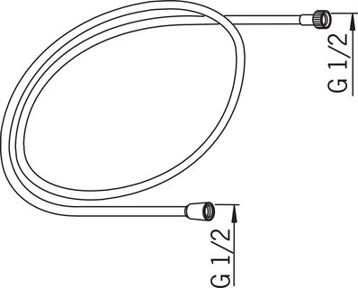 Oras, Shower hose, L=2000, 241020-60