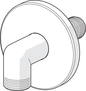Oras, Wall coupling for shower hose, G1/2xG1/2, 261998