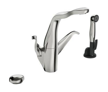 ALESSI Swan By Oras, Kitchen faucet with dishwasher valve, 230/12 V, 8227F