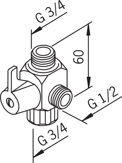 Oras, Three-way valve, 231901