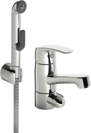 Oras Safira, Washbasin faucet with washing machine valve, 1014
