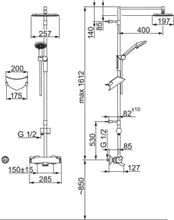 Oras Optima, Shower system, 7193U