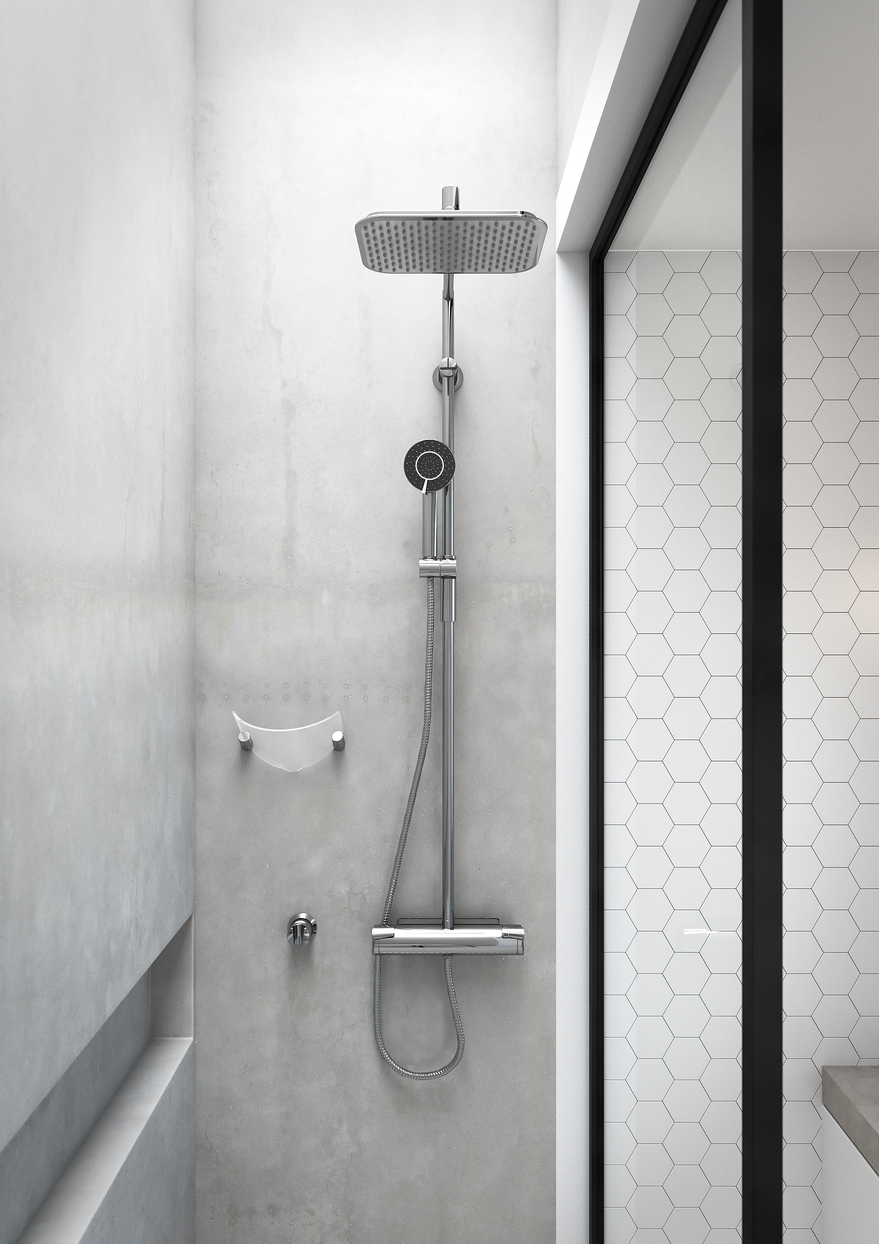 system frameless highgrove bathrooms rectangle panel shower