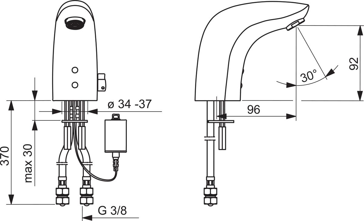 Ubrugte Oras Electra 6150F Washbasin faucet, 6 V | Oras RE-95
