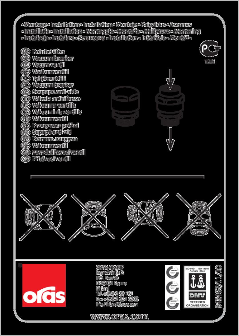 Oras 261031 Vacuum Breaker Type Hb Oras