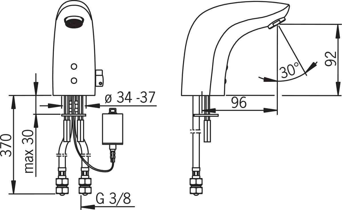 Folkekære Oras Electra 6150F-102 Washbasin faucet, 6 V | Oras ZF-45